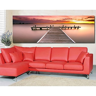3 Panel Photo Walking Off the Pier Photographic Print on Wrapped Canvas