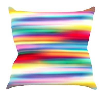 KESS InHouse Blurry Cool by Danny Ivan Rainbow Blur Throw Pillow; 18'' H x 18'' W