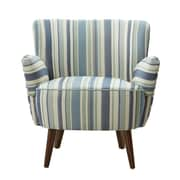 Madison Park Sophie Armchair; Green/Ocean Blue