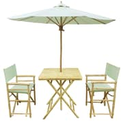 ZEW 4 Piece Dining Set; Celadon