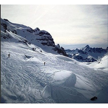 3 Panel Photo Braving The Slopes by Herbert Schroer Photographic Print on Wrapped Canvas