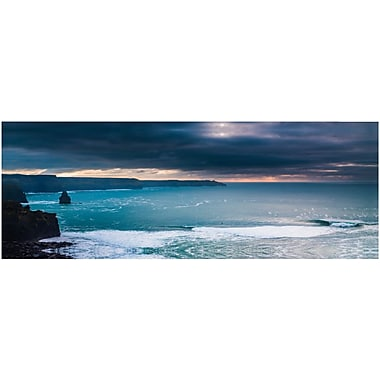 3 Panel Photo Storm Clouds Over the Ocean Photographic Print on Wrapped Canvas