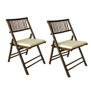 ZEW Folding Dining Chair w/ Cushion (Set of 2)