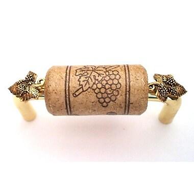 Vine Designs LLC Vineyard 3'' Center Bar Pull; Brass/Walnut/Gold