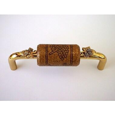 Vine Designs LLC Vineyard 4'' Center Bar Pull; Brass/Espresso/Gold