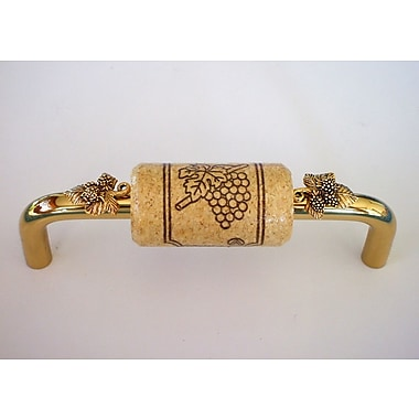 Vine Designs LLC Vineyard 4'' Center Bar Pull; Brass/Natural/Gold