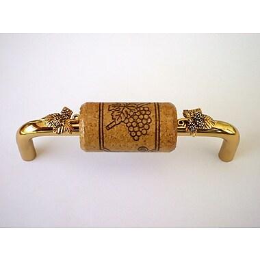 Vine Designs LLC Vineyard 4'' Center Bar Pull; Brass/Walnut/Gold