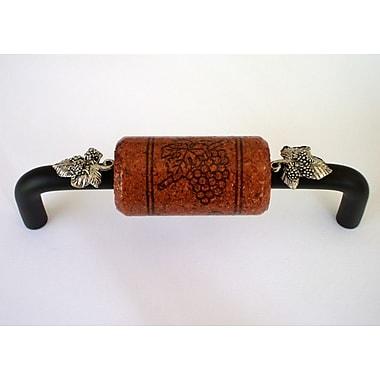 Vine Designs LLC Vineyard 4'' Center Bar Pull; Bronze/Mahogany/Silver