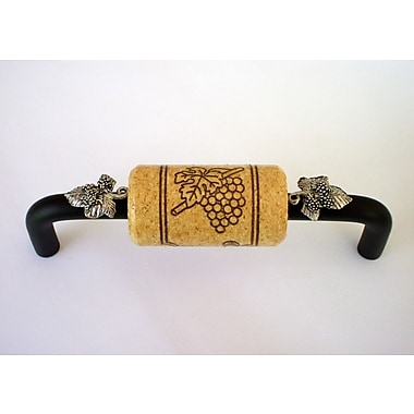 Vine Designs LLC Vineyard 4'' Center Bar Pull; Bronze/Natural/Silver
