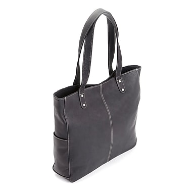 Royce Leather Luxury Women's Hobo Shoulder Bag in Handcrafted Colombian Genuine Leather, Silver Foil Stamping, Full Name