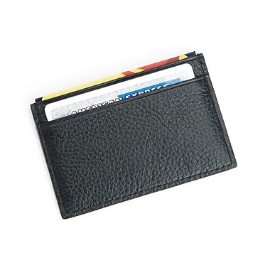 Royce Luxury Leather Credit Card Wallet w/RFID Blocking Technology for Identity Protection, Gold Foil Stamping, 3 Initials