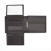 Royce Leather Bluetooth Tracking and RFID Blocking Executive Men's Bifold Wallet, Genuine Leather, Black (RFTR-109A-BL-5)