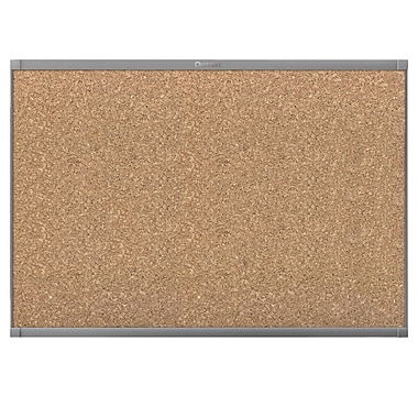 Prestige 2 Magnetic Cork, 4' x 3', Graphite Finish Frame