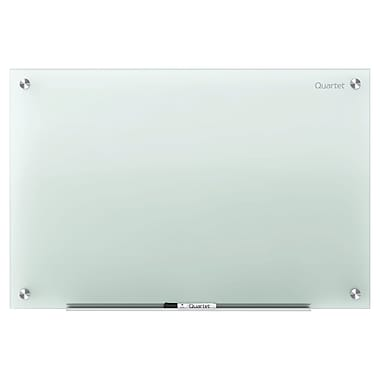 Quartet® Infinity™ Glass Dry-Erase Board, Frosted, 96