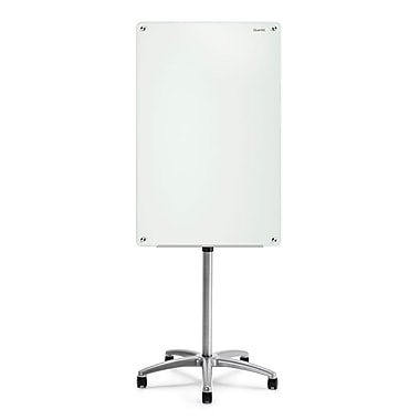 Infinity Glass Magnetic Dry Erase Mobile Easel, 3' x 2'