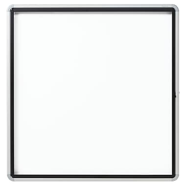 Euro Frame Enclosed Magnetic Whiteboard for Outdoor Use , Swing Door, 12-Sheets