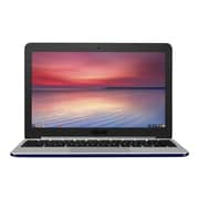 "ASUS Chromebook C201PA DS02 - Rockchip Cortex-A17 RK3288C - 11.6"" HD Display - 4 GB RAM - 16 GB SSD - C201PA-DS02 - Blue"