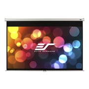 "Elite Screens® Manual M99NWS1 Ceiling/Wall Mount Manual Pull Down 99"" Projection Screen"