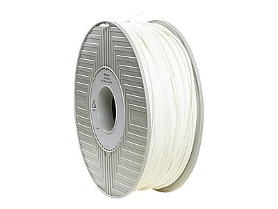 Verbatim® 3 mm PLA 3D Printer Filament Reel, White, 119 m, 2.2 lbs. (55260)