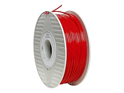 Verbatim® 3mm PLA 3D Printer Filament, Red, 1kg (55262)