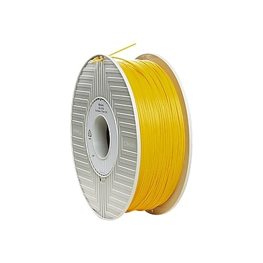 Verbatim® 1.75 mm PLA 3D Printer Filament Reel, Yellow, 334 m, 2.2 lbs. (55256)