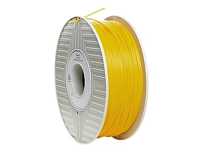 Verbatim® 1.75 mm PLA 3D Printer Filament Reel, Yellow, 334 m, 2.2 lbs. (55256)