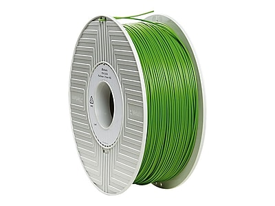 Verbatim® 1.75 mm PLA 3D Printer Filament Reel, Green, 334 m, 2.2 lbs. (55254)