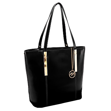 McKlein CRISTINA Leather Ladies' Tote with Tablet Pocket, Black
