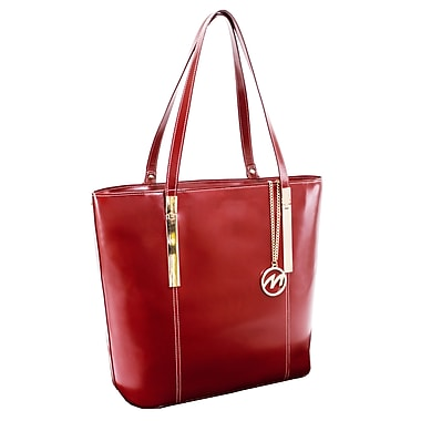 McKlein CRISTINA Leather Ladies' Tote with Tablet Pocket, Red