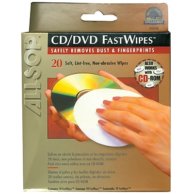 Allsop CD Fastwipes™, 20 Pk
