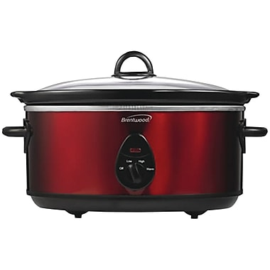 Brentwood 6.5 Quart Slow Cooker, Red (BTWSC150R)