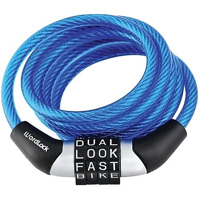 Wordlock Combination Non-resettable Cable Lock (blue)