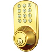 Morning Industry Inc Touchpad Electronic Dead Bolt (polished Brass)