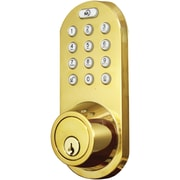 Morning Industry Inc 3-in-1 Remote Control & Touchpad Dead Bolt (polished Brass)