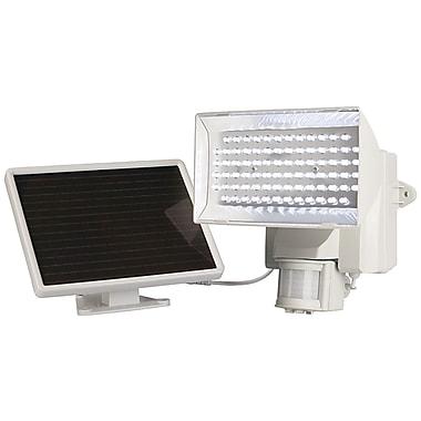 MAXSA Innovations – Projecteur de sécurité solaire à 80 DEL activé par le mouvement pour l'extérieur, blanc (MXI40225)