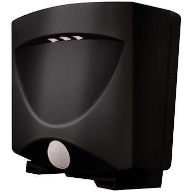 Maxsa Innovations Battery-Powered Motion-Activated Outdoor Night Light, Black/Dark Bronze (MXI40342)