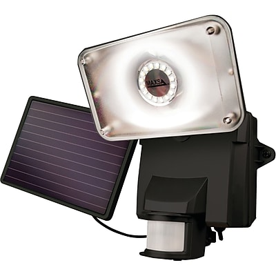 Maxsa Innovations Motion-activated Solar LED Security Flood Light (black)