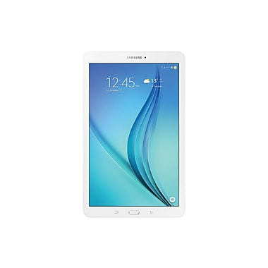 Samsung – Galaxy Tab E SM-T560NZWUXAC, 9,6 po, quadricoeur à 1,2 GHz, Android™ 5.0, Lollipop, 16 Go, Wi-Fi, bilingue, blanc