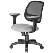 Comfort Products Breezer Mesh Computer and Desk Office Chair, Fixed Arms, Gray (60-511504)