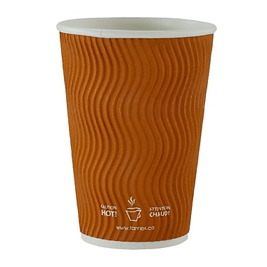 Double Wall Ripple Cup, 16oz/473ml, Brown