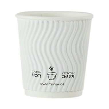 Double Wall Ripple Cup, 4oz/118ml, White