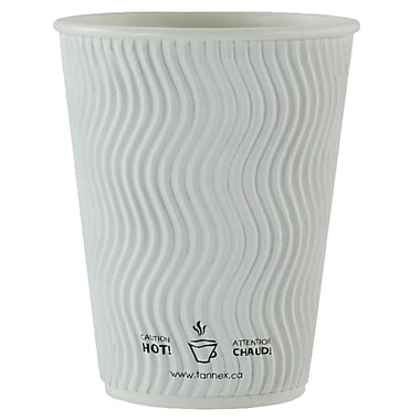 Double Wall Ripple Cup, 12oz/360ml, White