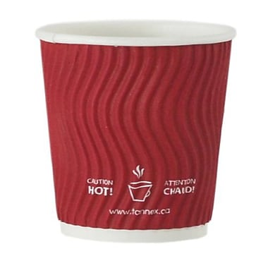 Double Wall Ripple Cup, 4oz/118ml, Red