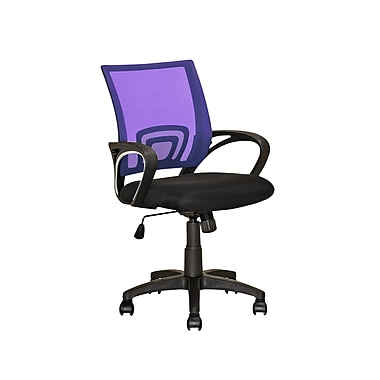 CorLiving LOF-313-O Workspace Purple Mesh Back Office Chair