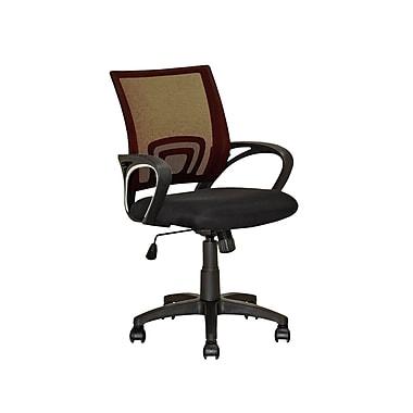 CorLiving – Chaise de bureau à dossier en mailles brun foncé LOF-316-O