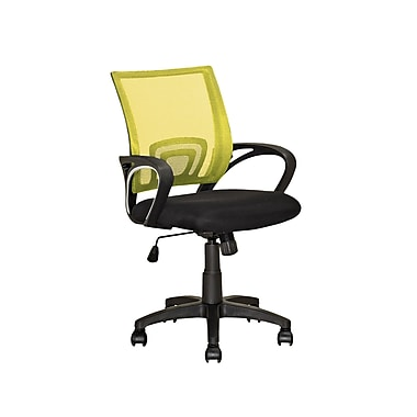 CorLiving LOF-319-O Workspace Yellow Mesh Back Office Chair