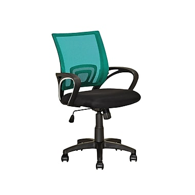 CorLiving LOF-320-O Workspace Teal Mesh Back Office Chair