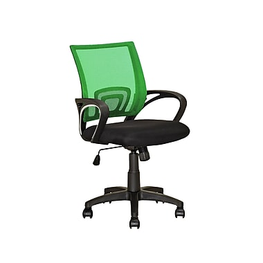 CorLiving – Fauteuil de bureau à dossier maillé vert pâle LOF-321-O