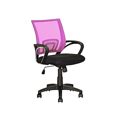 CorLiving LOF-322-O Workspace Pink Mesh Back Office Chair