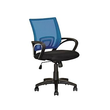 CorLiving – Chaise de bureau à dossier en mailles bleu LOF-324-O
